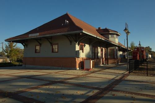 Cornelia GA Habersham County Historic Southern Railway Depot Museum Photograph Copyright Brian Brown Vanishing South Georgia USA 2014