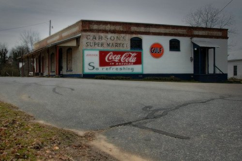 Farmington GA Carsons Super Market Coca Cola Gulf Murals Restored by John Cleaveland Oconee County Photograph Copyright Brian Brown Vanishing North Georgia USA 2014