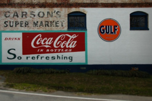 Farmington GA Carsons Super Market Murals Restored by John Cleaveland Oconee County Photograph Copyright Brian Brown Vanishing North Georgia USA 2014