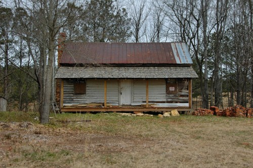 Farmington GA Oconee County Vernacular House Cabin Restoration Mixed Roof Tin Shingles Photograph Copyright Brian Brown Vanishing North Georgia USA 2014