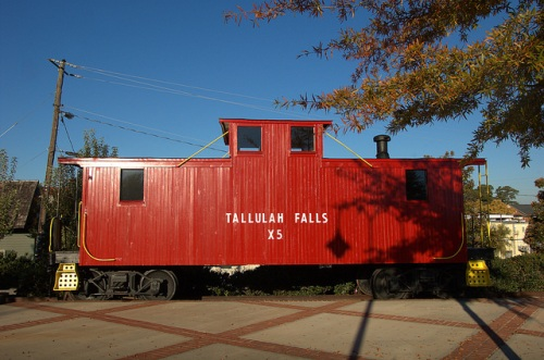 Historic Tallulah Falls Railroad Restored Wooden Caboose Cornelia GA Habersham County Photograph Copyright Brian Brown Vanishing North Georgia USA 2014