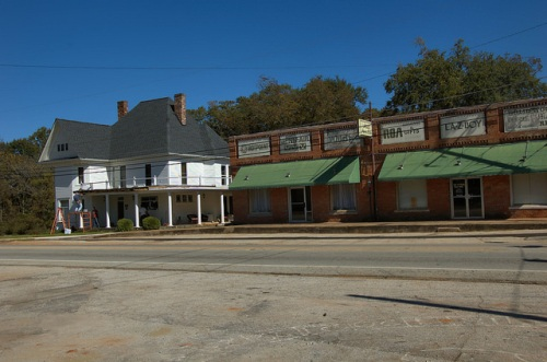 Martin GA Historic District Stephens County Storefronts House Photograph Copyright Brian Brown Vanishing North Georgia USA 2014