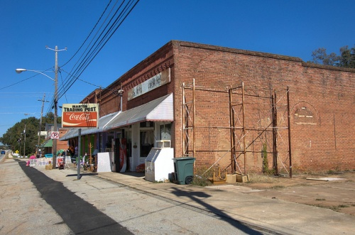 Martin GA Historic Downtown Storefronts Trading Post Photograph Copyright Brian Brown Vanishing North Georgia USA 2014