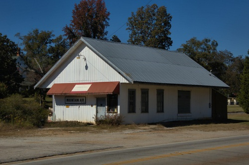 Martin GA Southern Railway Depot Stephens County Photograph Copyright Brian Brown Vanishing North Georgia USA 2014