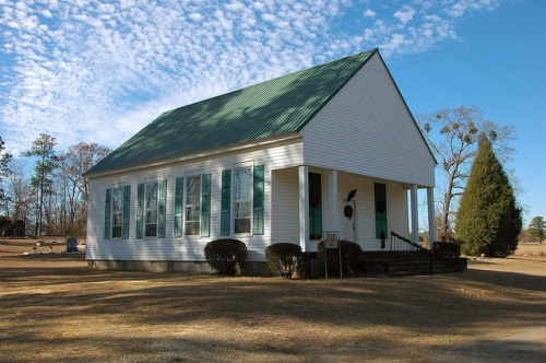 Mt Hope United Methodist Church Historic Landmark Hancock County GA Photograph Copyright Brian Brown Vanishing North Georgia USA 2014