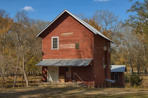 Ogeechee River Mill Since 1847 Hancock County GA Historic Landmark Operational Photograph Copyright Brian Brown Vanishing North Georgia USA 2014