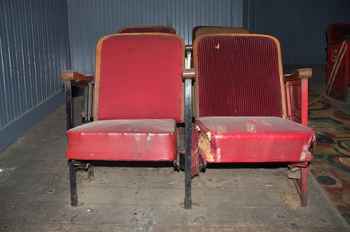 Schaefer Center Old Theatre Toccoa GA Restoration Red Seats Photograph Copyright Brian Brown Vanishing North Georgia USA 2014