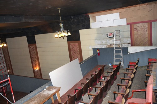 Schaefer Center Old Theatre Toccoa GA Under Restoration Balcony View Photograph Copyright Brian Brown Vanishing North Georgia USA 2014
