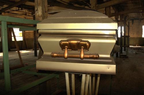 Toccoa Casket Company GA Coffin Mold Photograph Copyright Brian Brown Vanishing North Georgia USA 2014