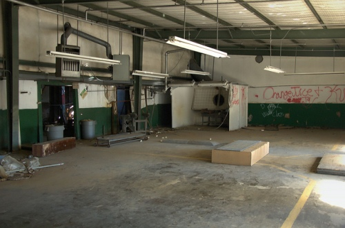 Toccoa Casket Company Spooky Abandoned Warehouse GA Photograph Copyright Brian Brown Vanishing North Georgia USA 2014