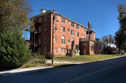 Toccoa GA Historic Hotel Albermarle Photograph Copyright Brian Brown Vanishing North Georgia USA 2014