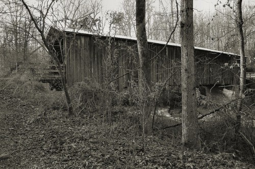 Elder Mill Covered Bridge National Register of Historic Places Oconee County GA Photograph Copyright Brian Brown Vanishing North Georgia USA 2014