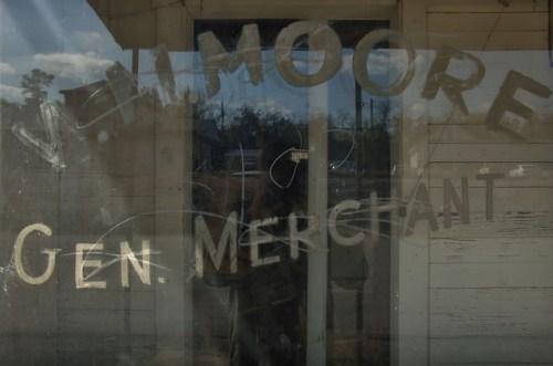 Camak GA Warren County Ghost Town William M Moore Store Painted Window Sign Photograph Copyright Brian Brown Vanishing North Georgia USA 2014