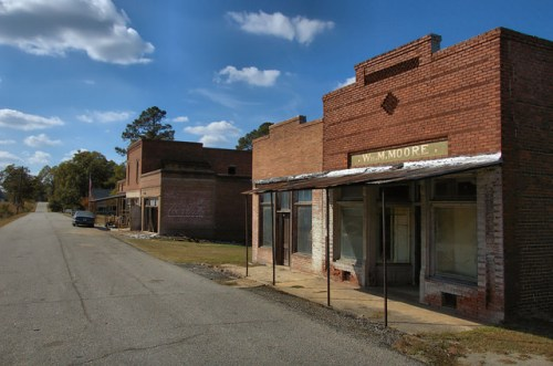 Camak GA Warren County Ghost Town William M Moore Store Railroad Street Photograph Copyright Brian Brown Vanishing North Georgia USA 2014