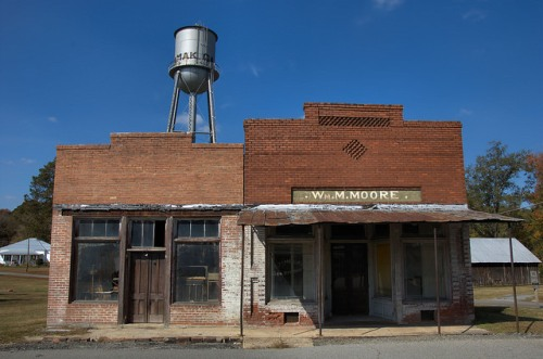 Camak GA Warren County Ghost Town William M Moore Store Water Tower Photograph Copyright Brian Brown Vanishing North Georgia USA 2014
