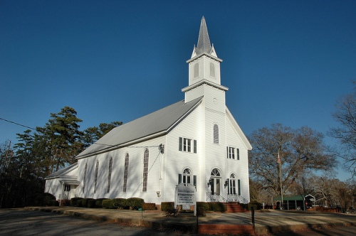 Crawfordville GA Baptist Church Taliaferro County Photograph Copyright Brian Brown Vanishing North Georgia USA 2014