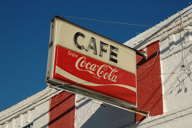 Bonner's Cafe Annie Lou Bonner Crawfordville GA Taliaferro County Coca Cola Sign Movie Set Sweet Home Alabama Photograph Copyright Brian Brown Vanishing North Georgia USA 2014