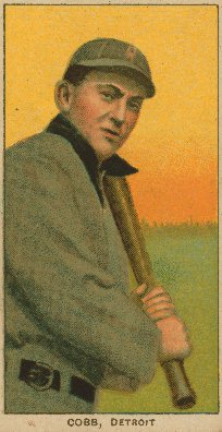 Ty Cobb Public Domain Image Tobacco Card via Wikipedia