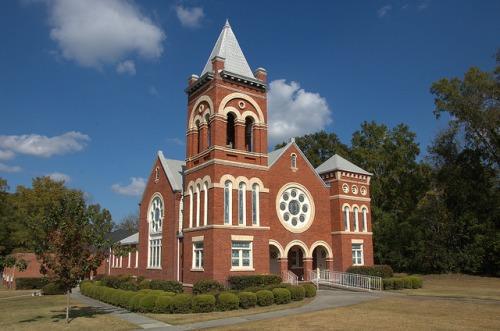 Warrenton GA First Methodist Church Warren County J W Golucke Architect Landmark Photograph Copyright Brian Brown Vanishing North Georgia USA 2014