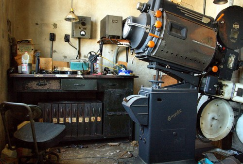 Warrenton GA Warren County Histori Knox Theatre Abandoned Projectionists Booth Photograph Copyright Brian Brown Vanishing North Georgia USA 2014