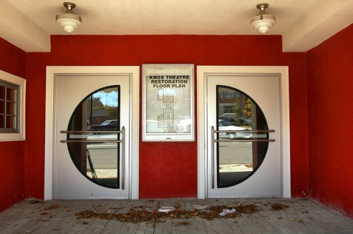 Warrenton GA Warren County Knox Theatre Restored Movie House Art Deco Entrance Double Doors Photograph Copyright Brian Brown Vanishing North Georgia USA 2014
