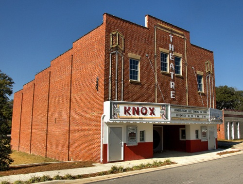 Warrenton GA Warren County Knox Theatre Restored Movie House Photograph Copyright Brian Brown Vanishing North Georgia USA 2014