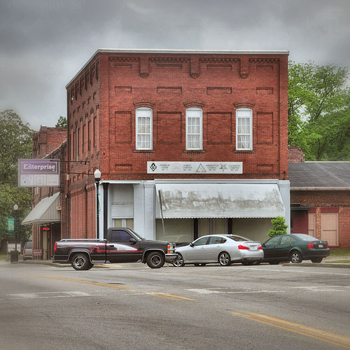 Warrenton GA Warren County Masonic Lodge F&AM Hall Photograph Copyright Brian Brown Vanishing North Georgia USA 2014