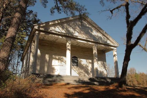 Historic Mt Zion Presbyterian Church Hancock County GA Photograph Copyright Brian Brown Vanishing North Georgia USA 2014