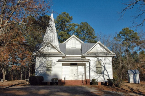 Powelton Baptist Church Historic Hancock County GA Photograph Copyright Brian Brown Vanishing North Georgia USA 2014