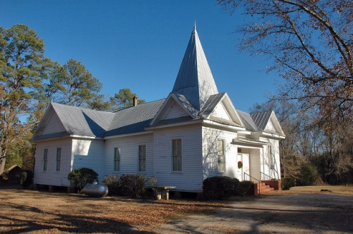 Powelton Baptist Church Historic Hancock County GA Rural Landmark Photograph Copyright Brian Brown Vanishing North Georgia USA 2014