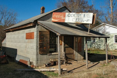 Powelton GA Hancock County Ghost Town Coopers Grocery Tar Paper Coca Cola Sign Photograph Copyright Brian Brown Vanishing North Georgia USA 2014