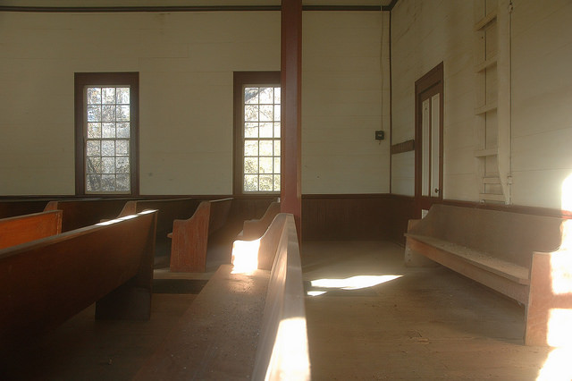 Powelton Methodist Church Hancock County GA Interior Photograph Copyright Brian Brown Vanishing North Georgia USA 2014
