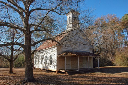 Powelton Methodist Church Hancock County GA Photograph Copyright Brian Brown Vanishing North Georgia USA 2014