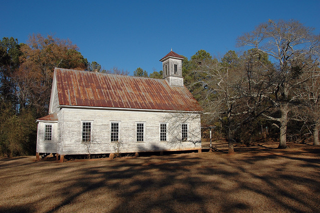 Powelton Methodist Church Hancock County GA Rural Landmark Photograph Copyright Brian Brown Vanishing North Georgia USA 2014