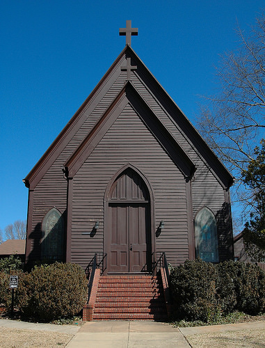St Stephens Episcopal Church Milledgeville GA Photograph Copyright Brian Brown Vanishing North Georgia USA 2014