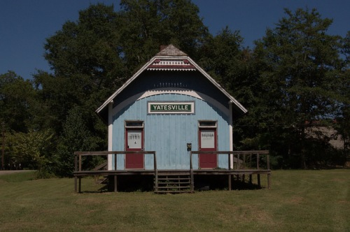 Atlanta & Florida Railroad Depot Yatesville GA Upson County Restoration Debatable Origin Photograph Copyright Brian Brown Vanishing North Georgia USA 2014