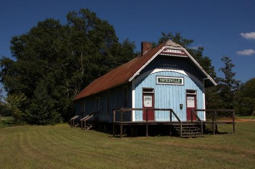 Atlanta & Florida Railroad Depot Yatesville GA Upson County Restoration Photograph Copyright Brian Brown Vanishing North Georgia USA 2014