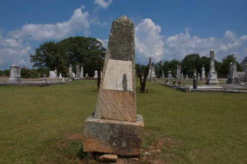 Culloden GA City Cemetery Obelisk Headstone of William Henry Harrison Doyal Photogpraph Copyright Brian Brown Vanishing North Georgia USA 2014