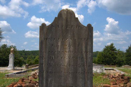 Culloden GA Historic Cemetery Early 19th Century Headstone Eliza Speer Photograph Copyright Brian Brown Vanishing North Georgia USA 2014