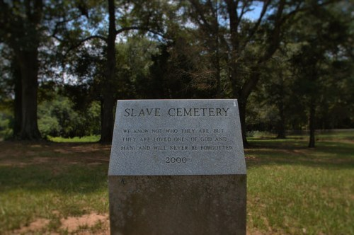 Culloden GA Historic Marker for Slave Cemetery Photograph Copyright Brian Brown Vanishing North Georgia USA 2014