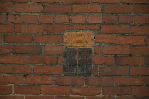 Culloden GA Monroe County Abandoned Warehouse Ornamental Brick Patchwork Photograph Copyright Brian Brown Vanishing North Georgia USA 2014