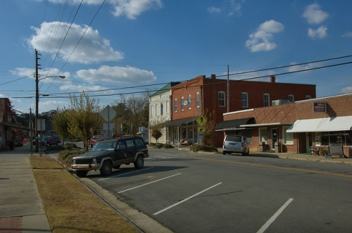 Downtown Gibson GA Glascock County Photograph Copyright Brian Brown Vanishing North Georgia USA 2014