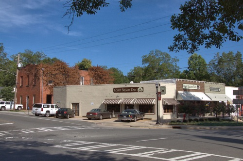 Downtown Greenville GA Historic Storefronts Revitalization Court Square Cafe Photograph Copyright Brian Brown Vanishing North Georgia USA 2014