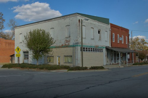 Gibson GA Glascock County Downtown Photograph Copyright Brian Brown Vanishing North Georgia USA 2014
