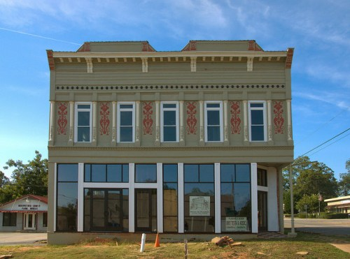 Greenville GA Meriwether County Restored Italianate Office Building Photo Copyright Brian Brown Vanishing North Georgia USA 2014