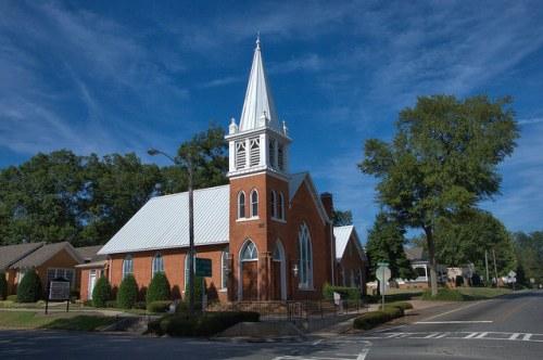 Greenville United Methodist Church Meriwether County GA Photograph Copyright Brian Brown Vanishing North Georgia USA 2014