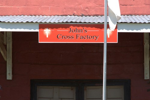 Johns Cross Factory Free Wooden Crosses Old Store Yatesville GA Upson County Photograph Copyright Brian Brown Vanishing North Georgia USA 2014