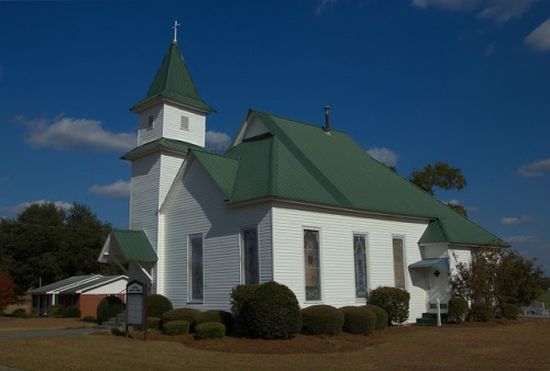 Mitchell GA Baptist Church Glascock County Photograph Copyright Brian Brown Vanishing North Georgia USA 2014