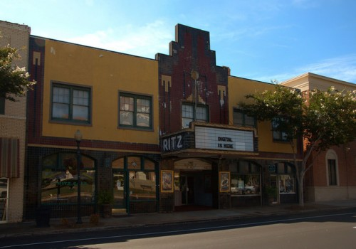 Ritz Theatre Thomaston GA Working Art Deco Movie House Digitized Photograph Copyright Brian Brown Vanishing North Georgia USA 2014
