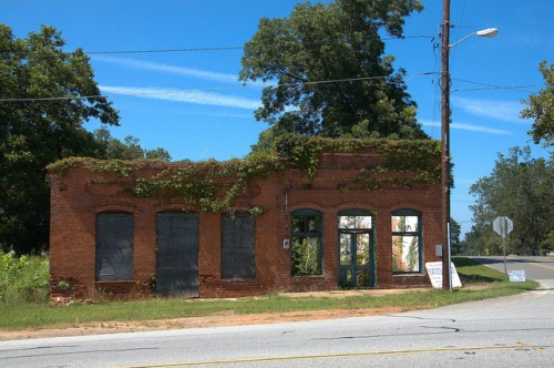 Yatesville GA Upson County Herrons Grocery Abandoned Landmark Photograph Copyright Brian Brown Vanishing North Georgia USA 2014